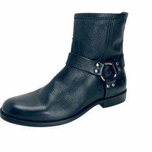 NWOT FRYE Phillip Harness Short Black Leather Boot